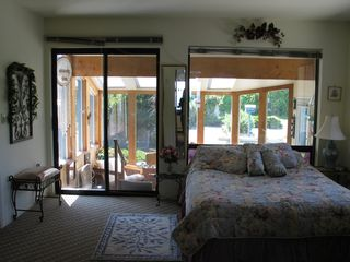 Sequim house photo - Bedroom w Sunroom Access