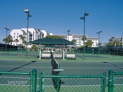 10 Lighted Tennis Courts - Racquet's provided in the storage unit