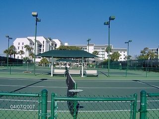 Hutchinson Island condo photo - 10 Lighted Tennis Courts - Racquet's provided in the storage unit
