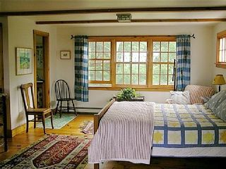 Gayhead - Aquinnah house photo - Master bedroom, upstairs, private full bath, private stairway