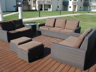 South Padre Island condo photo - seating on the sea wall