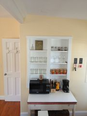 Folly Beach studio photo - Microwave and coffee bar