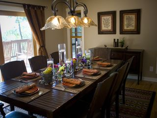Weaverville lodge photo - Dining Area w/ Deck Access