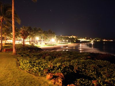 Beach Walk in Wailea at Night