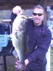 Lake Seminole house photo - Tom Imhof (owner) and his 7.8 pounder at the marina in Lake Seminole