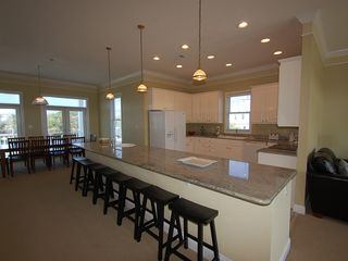 Fort Morgan property rental photo - Open Kitchen features: 14' Granite Island,new appliances,bar stools for the kids