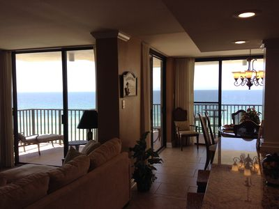 Stunning view of the Gulf from inside our condo!