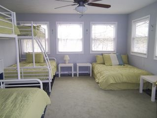 Allegan house photo - 4th Bedroom with 2 full over twin bunks and 1 full