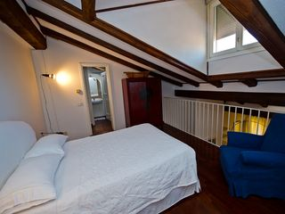 Bologna apartment photo - The Loft. The bed has firm mattress and frame.