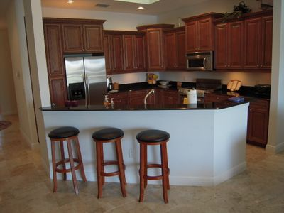 Updated kitchen has all of the amenities of home. Dine in or Dine out. Enjoy!