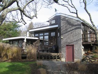 Chilmark house photo - Main deck of home in the off season
