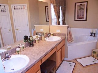 Palm Tree Bathroom - Highgate Park villa vacation rental photo