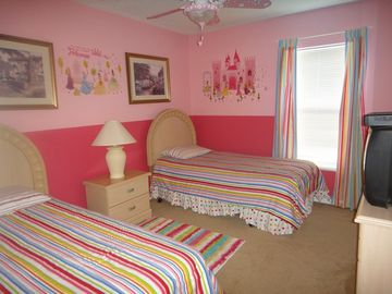 Girls princess themed upstairs bedroom 1st angle
