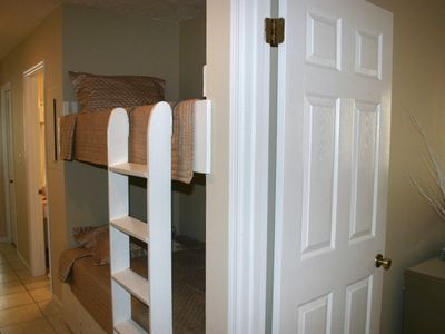 convenient hallway bunks for kids