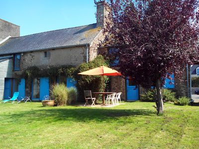 Beautiful stone farmhouse XIX comfortable 10 minutes from the coast. Pleslin Trigavo