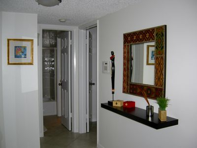 View of Foyer/hallway from kitchen