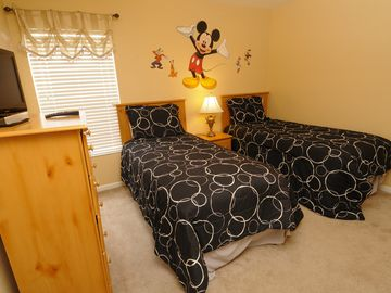 Mickey Twin Bedroom with Flat Screen TV