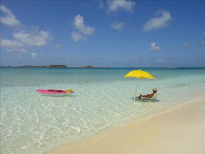 Spend an afternoon relaxing on a deserted beach with the crystal clear water.