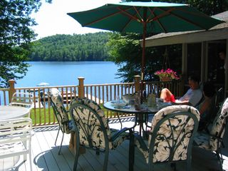 Acton chalet photo - Large deck for entertaining