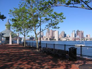 Boston condo photo - Boston harbor condo rental - with Piers Park, a 5-minute walk away