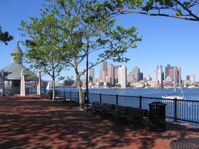 Boston harbor condo rental - with Piers Park, a 5-minute walk away