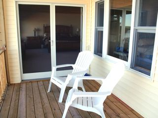 Mackinaw City house photo - Balcony from Master and Lakeside Bedrooms