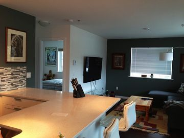 Haines apartment rental - new bright airy condo in super location. views of the mountains and Yukon River.