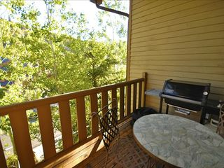 Park City condo photo - Deck with Weber BBQ grill