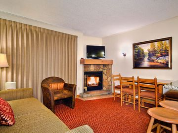 Avon condo rental - Living Area with a Fireplace at the Christie Lodge Resort
