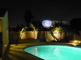 Anaheim house photo - Disneyland firework, viewed from backyard, lasts 15 minutes each evening