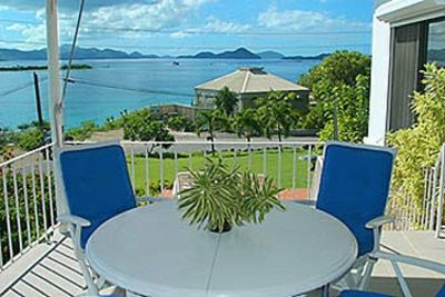 GP Seaview is across from Gallows Point Resort. Here, alfreso dining deck #1.