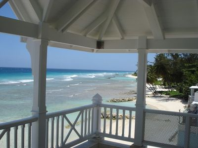 View of Beach from 1st Floor Balcony