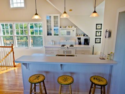 Gourmet Kitchen Is Well Equipped For Vacation Entertaining With Breakfast/Prep Bar