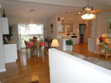 Beautiful french doors/View from back porch/Dining Area/Fully Loaded Kitchen
