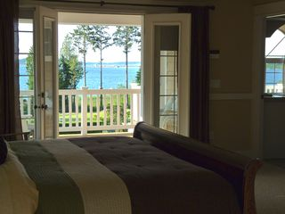 Poulsbo house photo - Master Suite Bedroom, Great Views of Hood Canal and Mt. Baker. Private Porch
