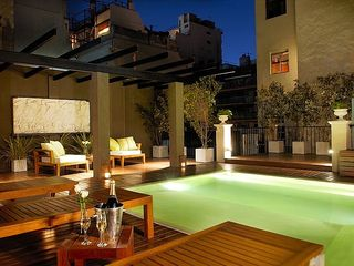 Recoleta apartment photo - Poetry Building Terrace at night.
