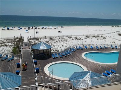 A look at 2 of the 3 beautiful beach front pools.