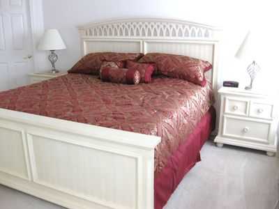 Master bedroom is a King - ensuite - walk in closet, with Safe - Flat sreen TV