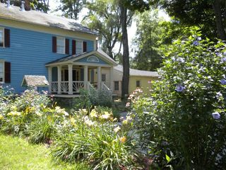 Chatham farmhouse photo - rear view/flower garden