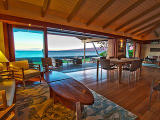 Puako house photo - View of the ocean from living room, indoor dining