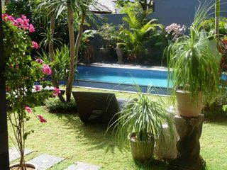 Seminyak villa photo - View from living room overlooking pool