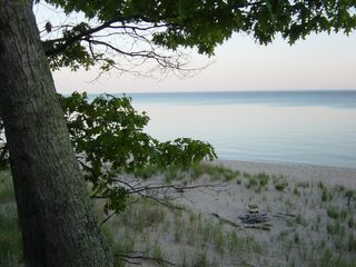 Manistee house photo - Have a bonfire on our all sand beach.