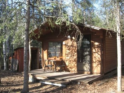 300 SF Creekside Cabin w/wood stove heat and elec outlets.