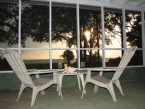 St. Helena Island house photo - The porch at dusk