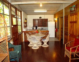 Negril cottage photo - Cottage dining area & kitchen