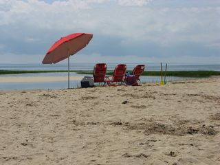Wellfleet house photo - The bay beach at the end of Lieutenant Island - 5 minute drive from the house.