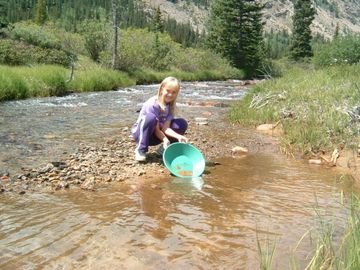 Try some gold panning!