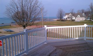 South Haven house photo - View of the pier and lake from upstairs master and second bedroom balcony!