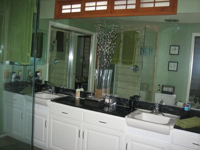 Master Bath with shower and double vanity