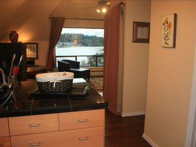 Kitchen to family room- view to enjoy morning, day & night--Spectacular sunsets!